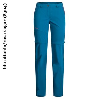 Montura Moving Zip Off Pants wmn 2S blu ottanio/rosa sugar (8304)